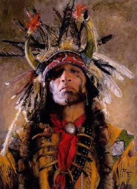 John Coleman Holy Man of the Buffalo Nation Giclee on Canvas