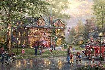 Thomas Kinkade Hometown Firehouse Publisher