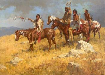 Howard Terpning Horsebacks on the Far Ridge Artist