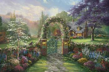 Thomas Kinkade Hummingbird Cottage Gallery Proof on Paper