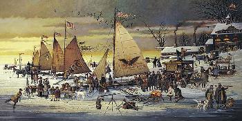 Charles Wysocki Ice Riders of Chesapeake Bay Artist