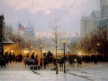 G. Harvey Inauguration Eve Giclee on Canvas