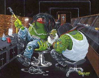 Michael Godard Ink Slinger Giclee on Canvas