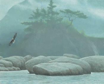 Robert Bateman Inside Passage - Bald Eagle Artist