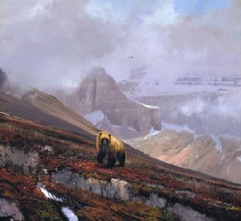 Michael Coleman In the Canadian Rockies - Grizzly Artist
