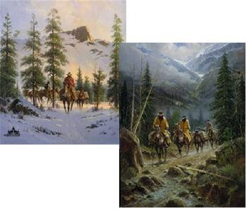 G. Harvey In the Land of Alpine Lakes and Whispering Pines 2 Print Suite