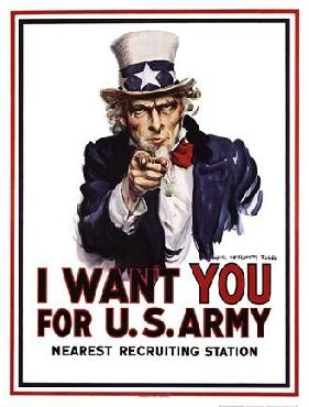 James Montgomery Flagg I Want You -Poster