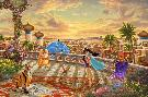 Thomas Kinkade Jasmine Dancing in the Desert Sunset