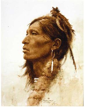 Howard Terpning Kiowa Giclee on Canvas