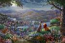 Thomas Kinkade Lady and the Tramp - Falling in Love