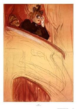 Henri De Toulouse-Lautrec La Loge