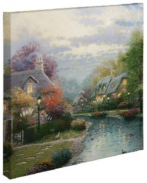 Thomas Kinkade Lamplight Brooke Open Edition Wrapped Canvas