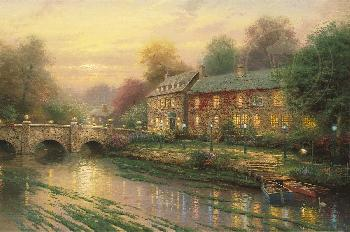 Thomas Kinkade Lamplight Inn Gallery Proof on Canvas