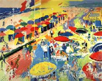 LeRoy Neiman La Plage a Deauville Hand Pulled Serigraph