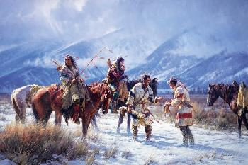 Martin Grelle Last of the Pemmican Open Edition Giclee on Canvas