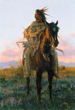 Howard Terpning Last Rays of Sun Autographed Cloth bound Book