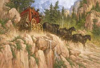 Larry Fanning Last Stage to Denver Giclee on Canvas