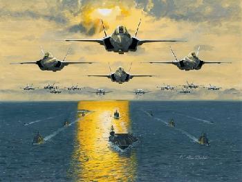 K. Price Randel Leading The Fleet Canvas