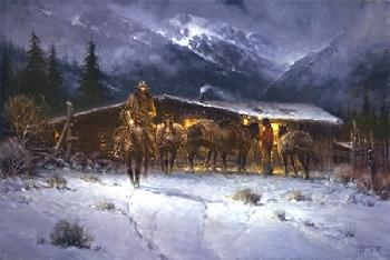 G. Harvey Leaving the High Country Canvas