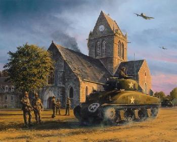 Richard Taylor Liberation - Sainte Mere Eglise, June 1944 Double Remarque Edition
