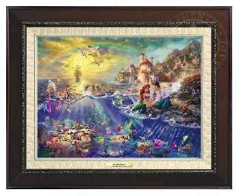 Thomas Kinkade Little Mermaid Canvas Classic Espresso Frame