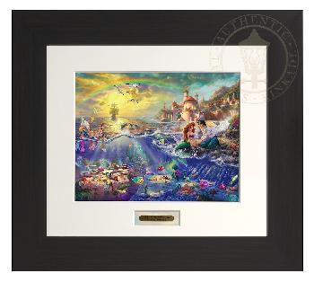 Thomas Kinkade Little Mermaid Modern Home Collection Espresso Frame