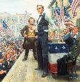 Kunstler Lincoln - Douglas Debates Artists Proof Premier Giclee on Canvas