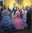 Kunstler Lincolns Inaugural Ball Collectors Giclee on Canvas