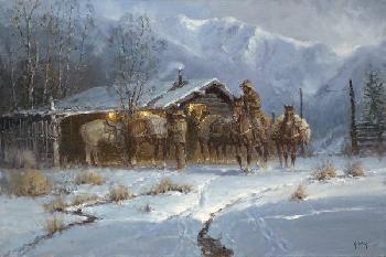 G. Harvey Line Shack Cowhands Artist
