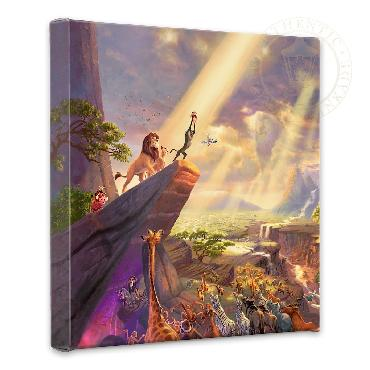 Thomas Kinkade Lion King Open Edition Wrapped Canvas
