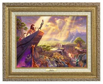 Thomas Kinkade Lion King Canvas Classic Gold Frame