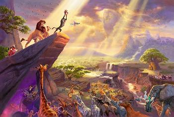 Thomas Kinkade Lion King Jewel Edition on Canvas