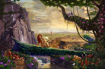Thomas Kinkade Lion King - Return to Pride Rock Gallery Proof on Paper