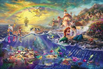 Thomas Kinkade Little Mermaid Atelier National on Canvas