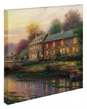 Thomas Kinkade Lamplight Inn Open Edition Wrapped Canvas