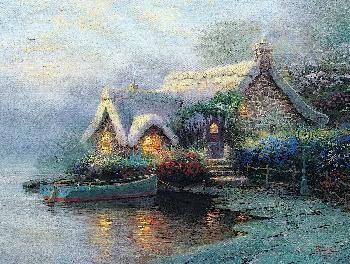 Thomas Kinkade Lochaven Cottage SN Canvas