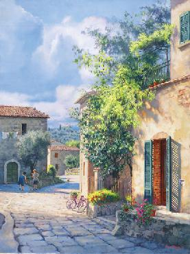 June Carey Lost in Chianti Giclee on Canvas