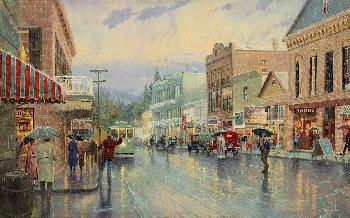 Thomas Kinkade Main Street Trolley Publisher