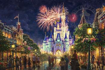Thomas Kinkade Main Street U. S. A. - Walt Disney World SN Paper