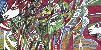 James Newton Mardi Gras Giclee on Museum Paper