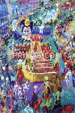 LeRoy Neiman Mardi Gras Parade Hand Pulled Serigraph