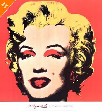 Andy Warhol Marilyn 1967 on Red LAST ONES IN INVENTORY!!