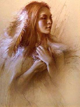 Lee Bogle Native Woman Study Giclee on Paper
