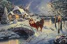Thomas Kinkade Mickey and Minnie - Evening Sleigh Ride
