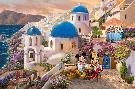 Thomas Kinkade Mickey and Minnie - In Greece