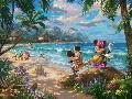 Thomas Kinkade Mickey and Minnie in Hawaii
