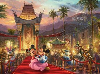 Thomas Kinkade Mickey and Minnie in Hollywood Gallery Proof on Paper