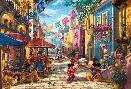 Thomas Kinkade Mickey and Minnie - In Mexico