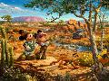 Thomas Kinkade Mickey and Minnie - In the Outback