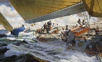 Russel Kramer Million Dollar Breeze Giclee on Canvas